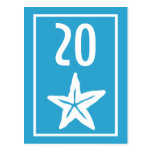 Star Fish Table Numbers (Blue / White) Postcard