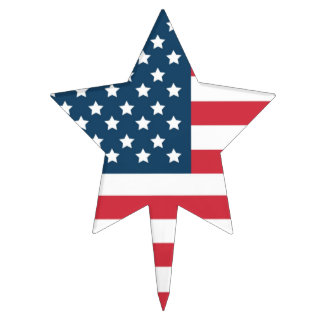 Star Flag Cake Toppers