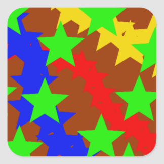 Star Flight Square Sticker