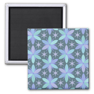 Star Floral in Cool Colors Magnet