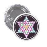 Star Flower 1 Inch Round Button