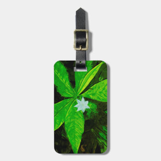 Star Flower a White Wildflower Abstract Bag Tag
