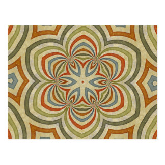 Star Flower Kaleidoscope Mandala Postcard