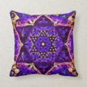 Star Flower Mandala in Purple by Amelia Carrie Throw Pillow (<em>$31.35</em>)