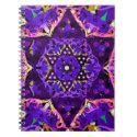 Star Flower Mandala in Purple Notebook (<em>$13.70</em>)