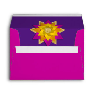 Star Flower Pink Orange Yellow Purple Envelope