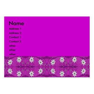 star flower purple business card