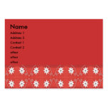 star flower red large business cards (Pack of 100)