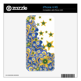 Star Flower Vector Case  for iPhone 4/4S - iPhone 4 Skin