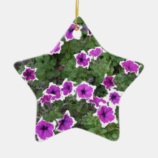 Star Flowers Double-Sided Star Ceramic Christmas Ornament