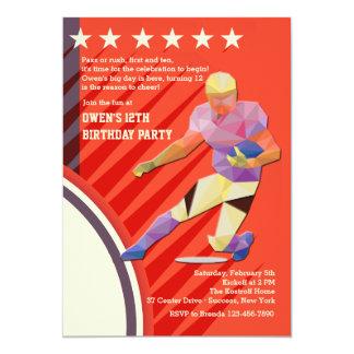 Star Football Player Invitation