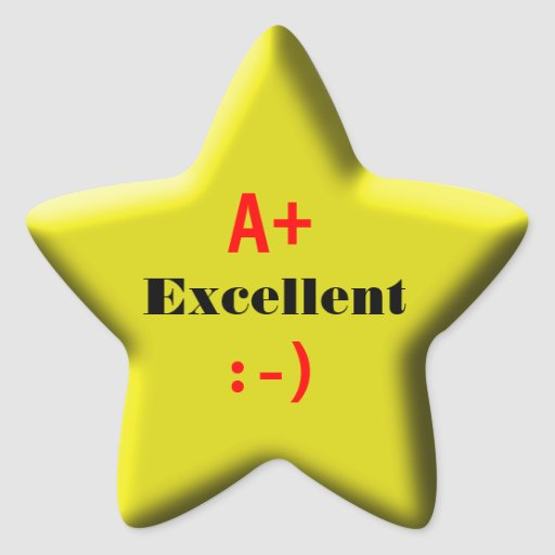Star For Excellence Star Stickers