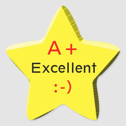 Star For Excellence Stickers