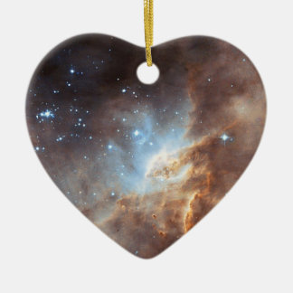 Star formation ceramic ornament
