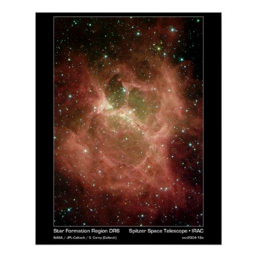 Star Formation Region DRS – Spitzer Telescope Poster