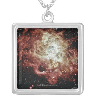 Star Formation Silver Plated Necklace