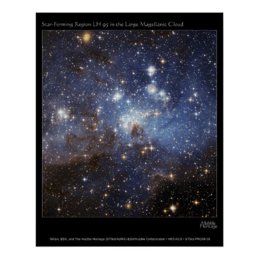 Star-Forming Region LH 95 in the Large Magellanic Poster