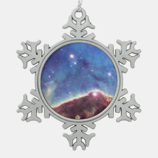 Star-Forming Region NGC 3324 Snowflake Pewter Christmas Ornament
