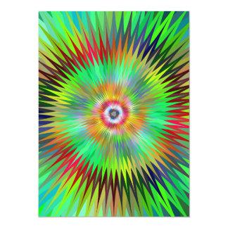 Star fractal 5.5x7.5 paper invitation card