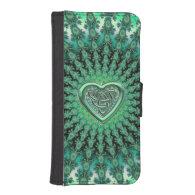 Star Fractal Celtic Heart Knot Wallet Phone Case Phone Wallet
