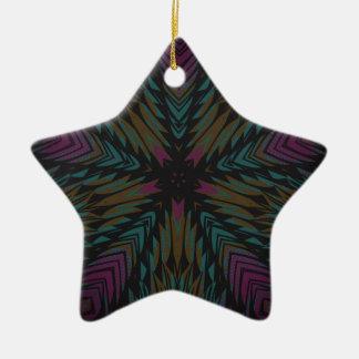 star fractal design christmas ornament