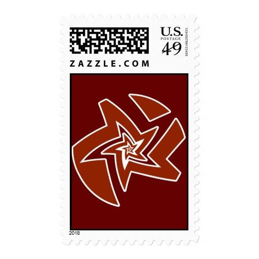 Star Fractal Postage Stamp