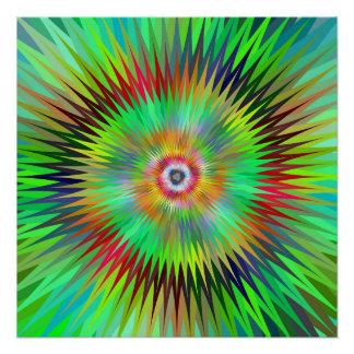 Star fractal poster