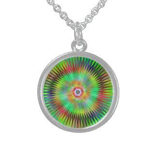 Star fractal round pendant necklace