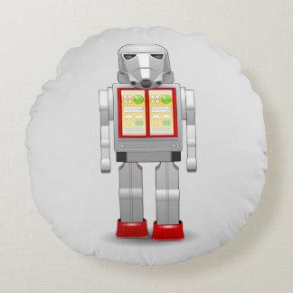 Star Freak Robot Round Pillow