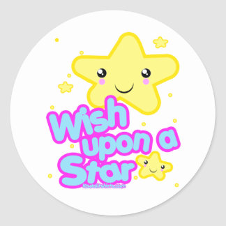 Star friends Kawaii t-shirts and more Classic Round Sticker