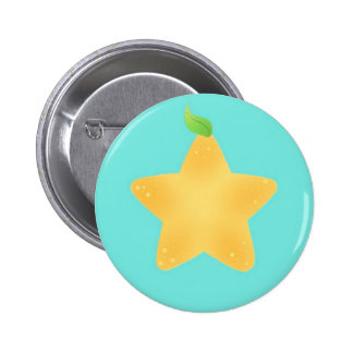 Star Fruit Button (Turquoise BG)
