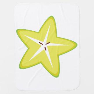 Star Fruit Swaddle Blankets