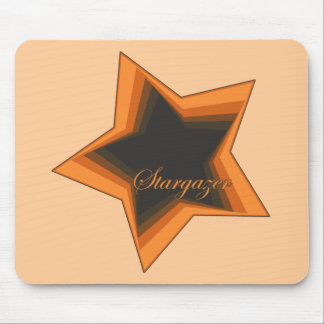 Star Gazer Gazing Up To The Stars In the Night Sky Mousepads