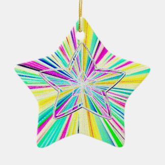 Star Gazer in 3D Ceramic Ornament