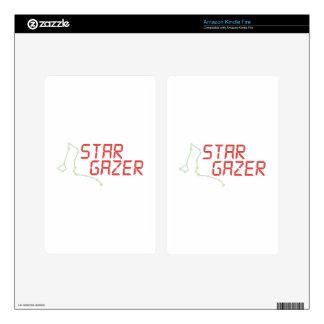 Star Gazer Kindle Fire Decal