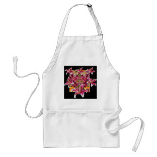 star gazer lilies floral art adult apron