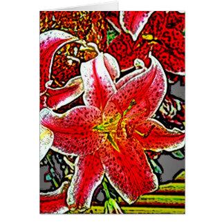 Star Gazer Lilly 2 Greeting Card