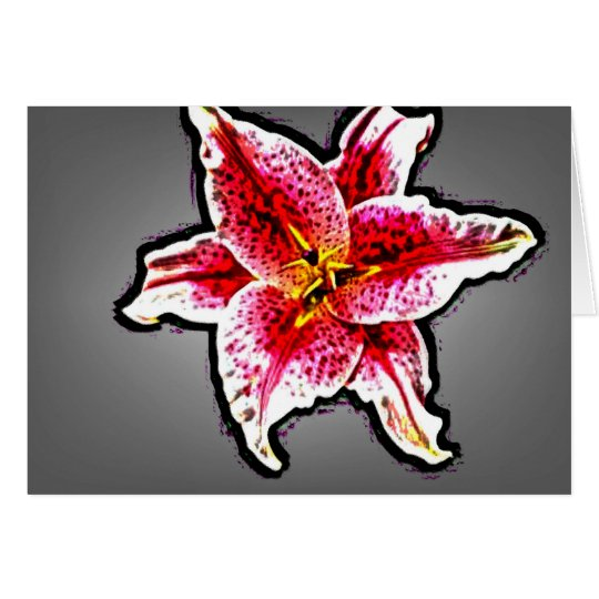 Star Gazer Lilly Card