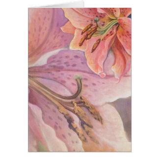 Star Gazer Lily Card