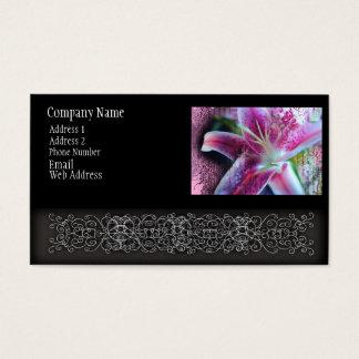 Star Gazer Lily in Glass Business Card