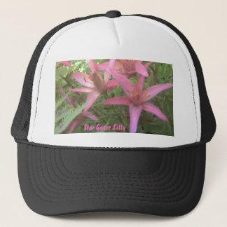 Star gazer lilys close up, Star Gazer Lilly Trucker Hat