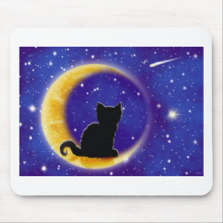 Star Gazing Cat Mouse Pad