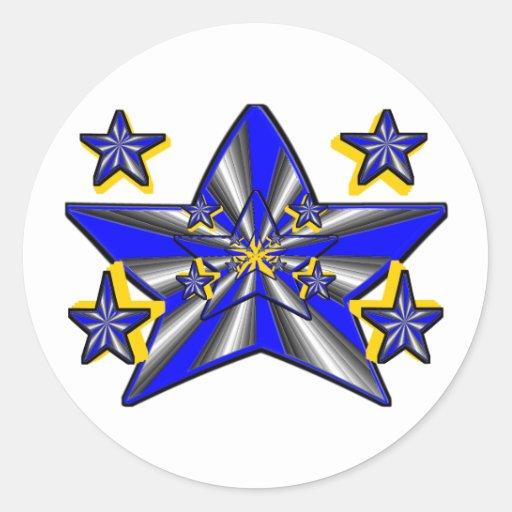 Star Genesis (Super Nova Artistic Conception) Classic Round Sticker