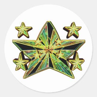 Star Genesis (Super Nova Artistic Conception) Round Stickers
