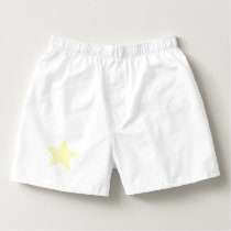 Star - geometric pattern - yellow and white. boxers