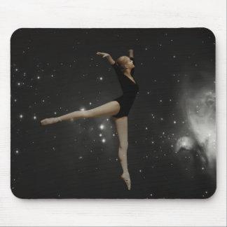 Star Girl Ballerina and Orion Nebula Mouse Pad