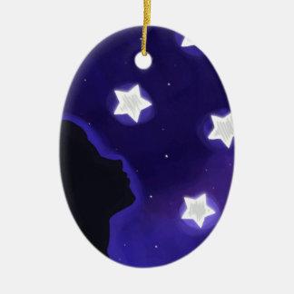 Star Girl Ceramic Ornament