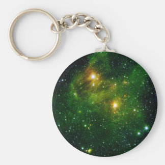 Star GL 490 Green Cluster Space Keychains