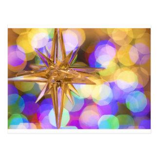 Star Glitter Postcard