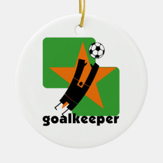 Star Goalkeeper T-shirts and Gifts Ceramic Ornament